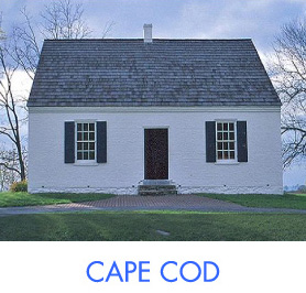 輸入住宅|ケープコッド写真とロゴ
