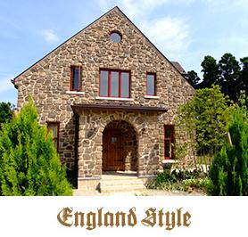 輸入住宅|イングランドスタイル写真とロゴ