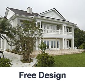輸入住宅|フリーデザイン写真とロゴ