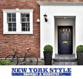 輸入住宅|ニューヨークスタイル写真とロゴ